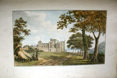 Approach to Pentillie Castle Cornwall by Repton copyright Pentillie estate_ (2)