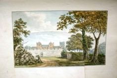 Approach to Pentillie Castle Cornwall by Repton copyright Pentillie estate_