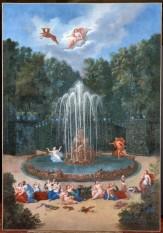 Le bosquet de l'Etoile avec Alphée poursuivant Aréthuse © château de Versailles Christophe Fouin