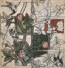 William Morris and Philip Webb, Design for Trellis wallpaper, 1862 (c) William Morris Gallery