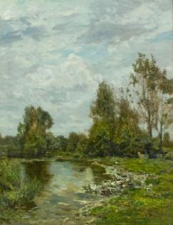 Guglielmo Ciardi_Lungo il Sile_Courtesy Galleria Nuova Arcadia di L. Franchi