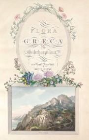 Ferdinand Bauer - Voorblad van Flora Greaca ©Teylers Museum