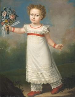 Giacomo Giuseppe Battig 'Ritratto di bambina' @Musei Provinciali di Gorizia