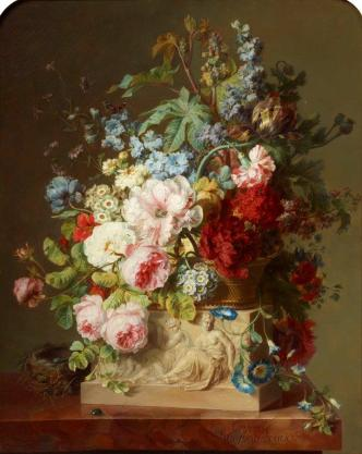 Cornelis van Spaendonck, Tableau de Fleurs, 1791, oil on canvas, 81.5 x 65.5 cm. ©Villa Vauban, Luxemburg