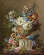 Gerard van Spaendonck, Still Life with Flowers in Alabaster Vase, 1783, oil on canvas, 80.5 x 64cm ©Het Rijksmuseum, Amsterdam