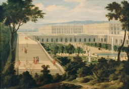 Étienne Allegrain, View of Palace of Versailles and the Orangery from the Swiss Basin Versailles ©Musée National du Château de Versailles