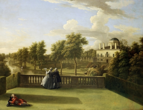 George Lambert, View of Chiswick Villa from the Waterfall ©London, English Heritage, Chiswick House