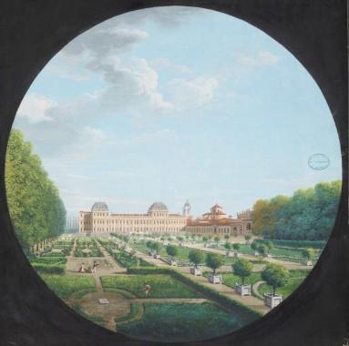 Luigi Baldassarre Reviglio 'Vue du Château (ci-devant Royal) de la Vénérie' ©Sèvres, Cité de la Céramique - Sèvres et Limoges