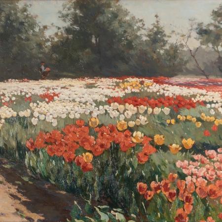 Flower bulbs fields painters book The Netherlands